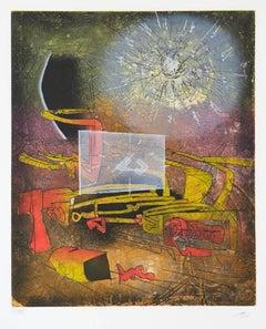 La paix est une idée neuve 1983 Matta Etching Framed