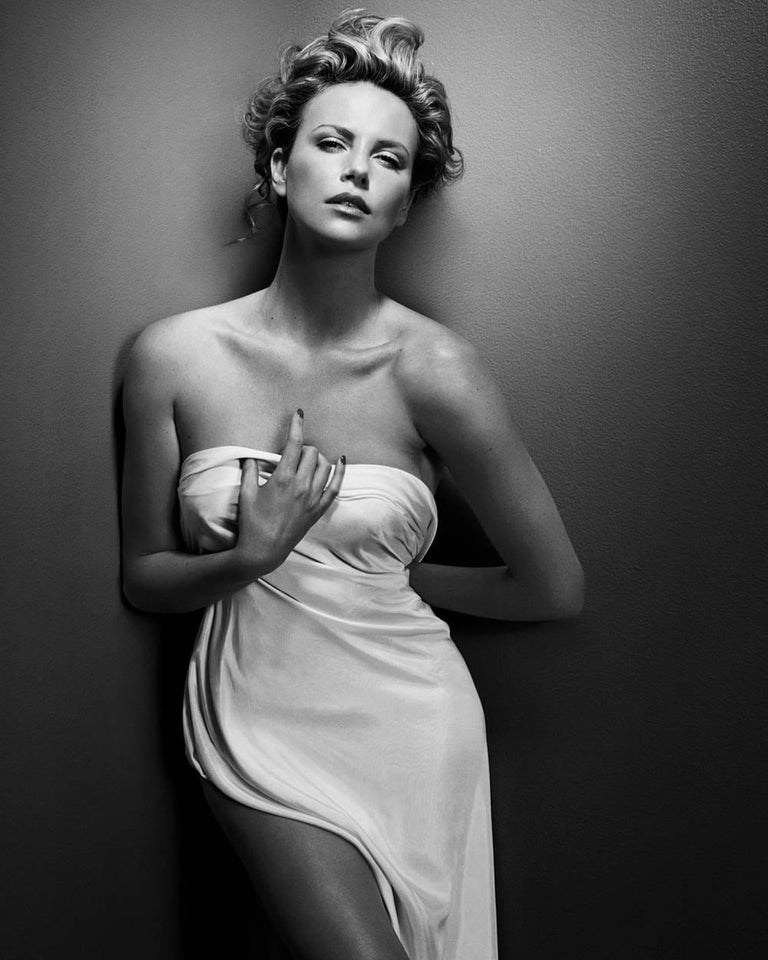 Vincent Peters Black and White Photograph - Charlize Theron, New York