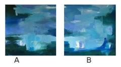 Blue + Forest Diptych A & B