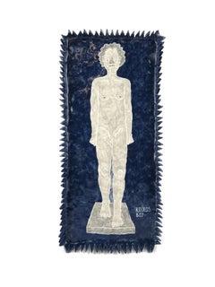 'Kouros Boy' - ceramic earthenware plate