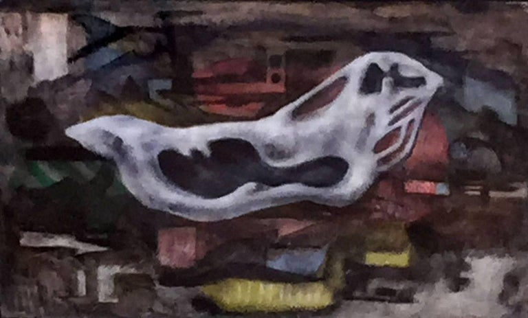 "Dickson Reeder Landscape Painting - ""Floating""  Mid Century Modern Fort Worth Texas Artist"