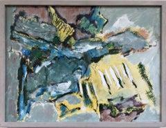 """Landscape Fragment II"" Abstract 1960 Mid-Century  Modern"