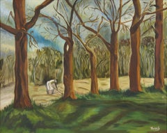 """""""Trees""""  The 1st Texas Black Woman allowed to exhibit in a Juried Art show."""