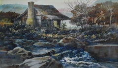 """Texas Cabin Christmas""  Awesome Watercolor"