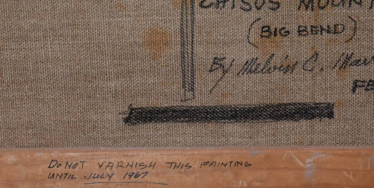 Melvin Warren   (1920 - 1995)   Texas Artist  Image Size: 24 x 36  Frame Size:  34 x 46  Medium: Oil  Dated Feb. 1967  Title: