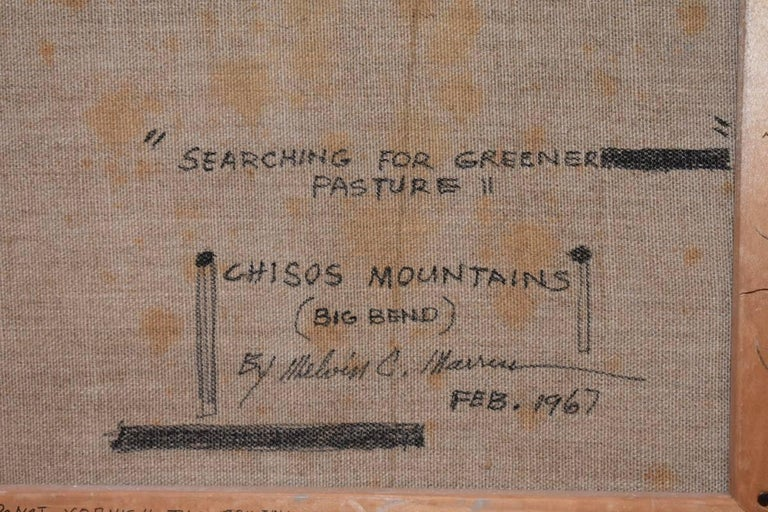 Searching For Greener Pasture Chisos Mountains (Big Bend) Texas Native American For Sale 1