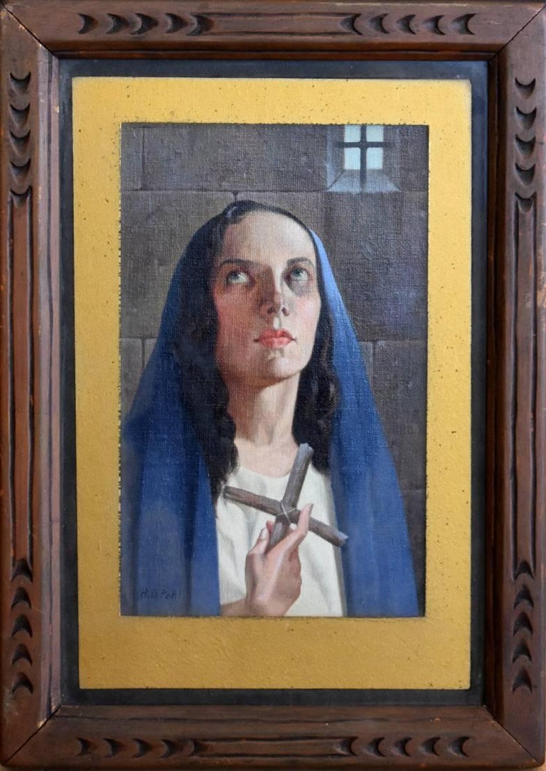 "Hugo Pohl Portrait Painting - ""The Christian""   Possibly a Martyr?"