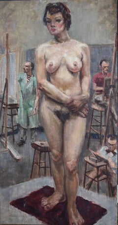 """""""Nude with Art Students""""  Classroom Nude"""