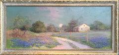 "Texas Bluebonnet Landscape  ""Hills Between Bandera & San Antonio, Texas"""