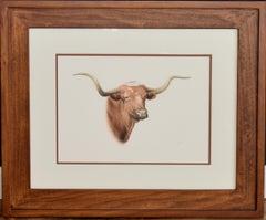 """Texas Longhorn""  Fantastic Colored Pencil Drawing."