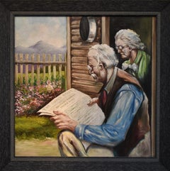 """""""Another Pioneer Passes Away""""  Great painting. Western Ranch Cowboy themed"""