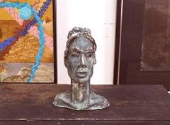 """Green Lady""  Sculpture Mid Century Modern Austin Artist"
