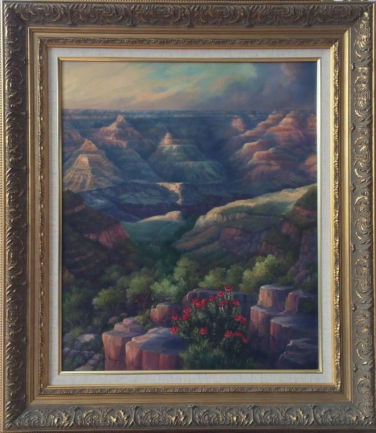 "Maureen Tarazon Landscape Painting - ""Sharing the Splendor""  Grand Canyon Arizona"