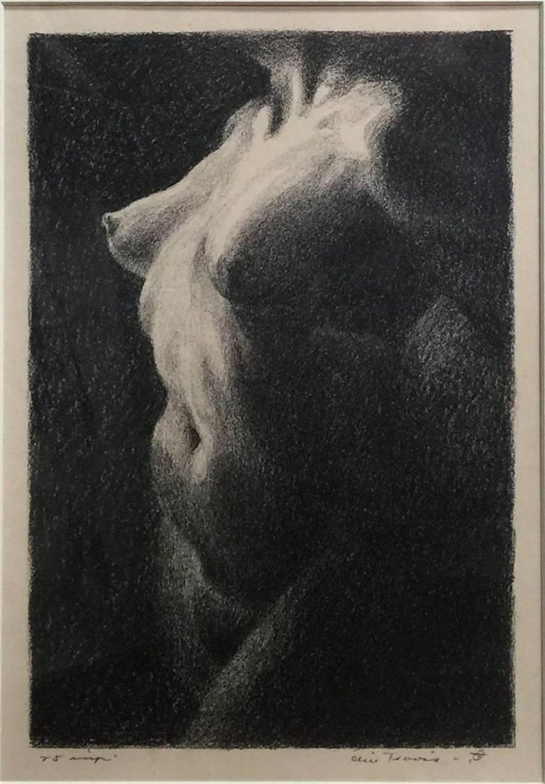Olin travis nude print nude circa 1930s lithograph dallas arkansas colorado
