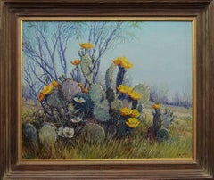 """""""Prickly Pear Cactus in Bloom""""  Texas at its best."""