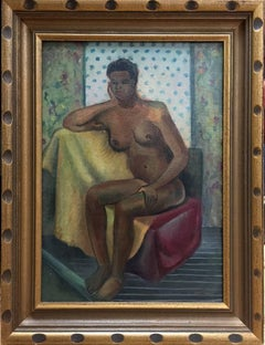 Nude.  African American Woman exhibited piece 1942 University of Iowa exhibited