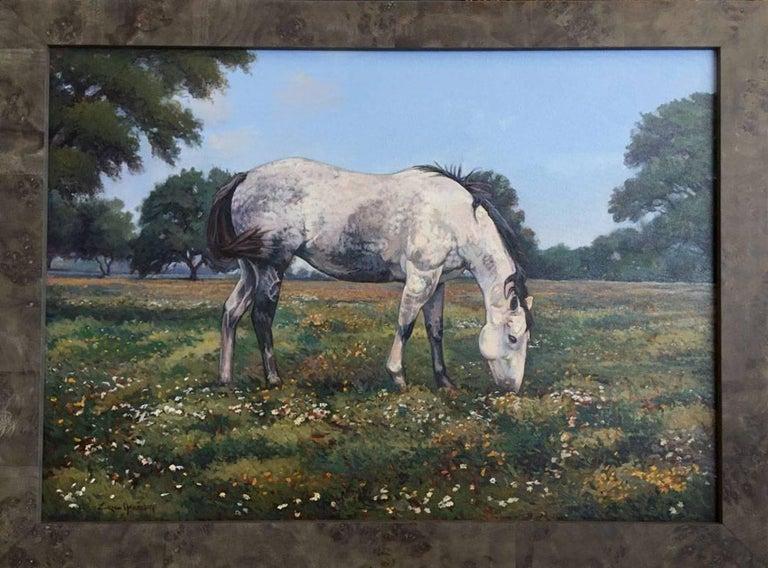 """Eric Harrison Landscape Painting - """"Dapple Grey Horse""""  Large  Painting"""