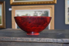 Large Wood Turned Hackberry footed Bowl.  Dyed.  Master Art Wood Turner Carmie