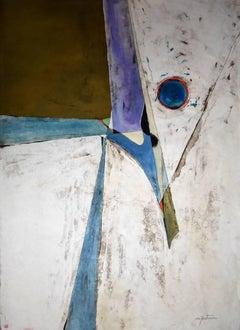 """The Blue Eye""  Mid Century Modern Texas Abstract"