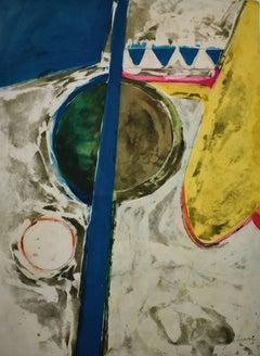 """""""Half Heart""""  Mid Century Modern Texas Abstract"""