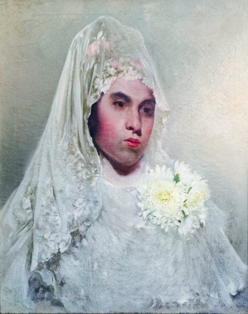 """""""Lady in Mantillia"""" Unsigned Tobin Collection.  Exibited in recent Museum shows"""
