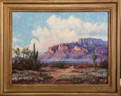 """Superstition Mountains""  Beautiful Purple Mountains in Arizona Near Phoenix"