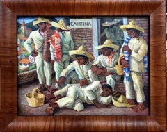 """""""Study for Cantina Triptych""""  Mexican scene"""