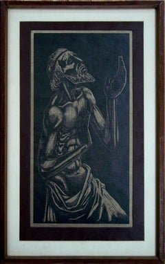 """""""Ancient Oracle""""    Etching or Aquatint"""