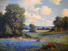 """Bluebonnets Texas Hill Country""  Circa 1930s Texas Wildflowers"