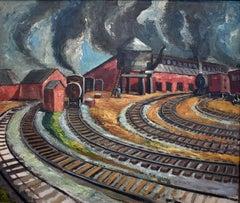 """Railroad Tracks San Antonio Texas""   Representational. Exibited in many Museums"
