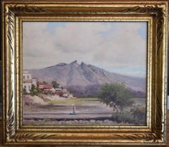 """SADDLE MOUNTAIN""   NEAR MONTERREY MEXICO EARLY ROBERT WOOD.  G. DAY SIGNATURE"