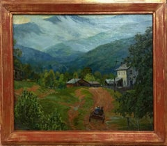 """Cass Arkansas After A Rain""  Circa Late 1920s Dallas/Arkansas/Colorado Artist"