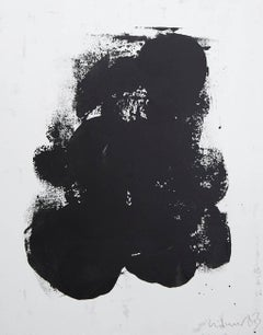 Black Movement On White I