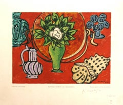 Nature Morte au Magnolia Henri Matisse wood engraving Estampe Robert Rey, 1950