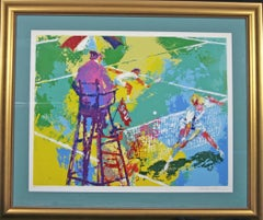 Sudden Death signed original  Leroy Neiman artist proof tennis serigraph