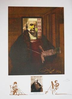 Rembrandt Portrait Du Peintre Par Lui-Meme original lithograph 1974
