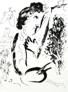 Before The Picture Chagall  lithograph on Arches paper 1963