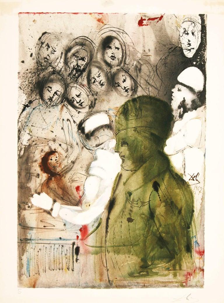 Salvador Dalí Figurative Print - Aliyah, Convenant: Eternal Circumcision