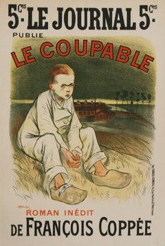 La Coupable Maitre De L'Affiche Plate #134 Steinlen Lithograph