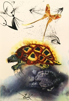 The Mock Turtle's Story Alice in Wonderland Salvador Dali 1969 original woodcut