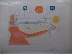 Dalinian Prophecy Salvador Dali engraving limited edition