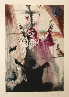 I have set before thee....lithograph Aliyah Series Salvador Dali