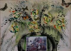 Les Fleurs et Fruits Salvador Dali Currier and Ives lithograph 1965 signed