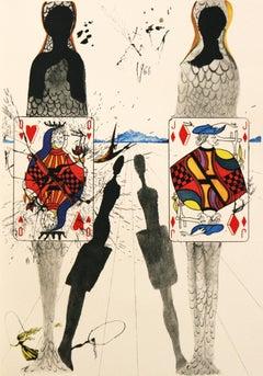 The Queen's Croquet Ground Salvador Dali Alice's Adventures in Wonderland 1969