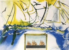 American Yachting Scene Salvador Dali Currier & Ives series  lithograph 1971