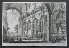 Giovanni Battista Piranesi - Veduta del Piano Superiore de Serraglio delle Fiere Fabbricato Piranesi 1778