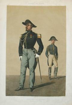 Ecole Imp.DE Cavalerie, Officier du Cadre Armee De Ligne pub. Lemercier 1861
