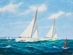 Evenly Matched original oil painting by Frederick J. Hoertz