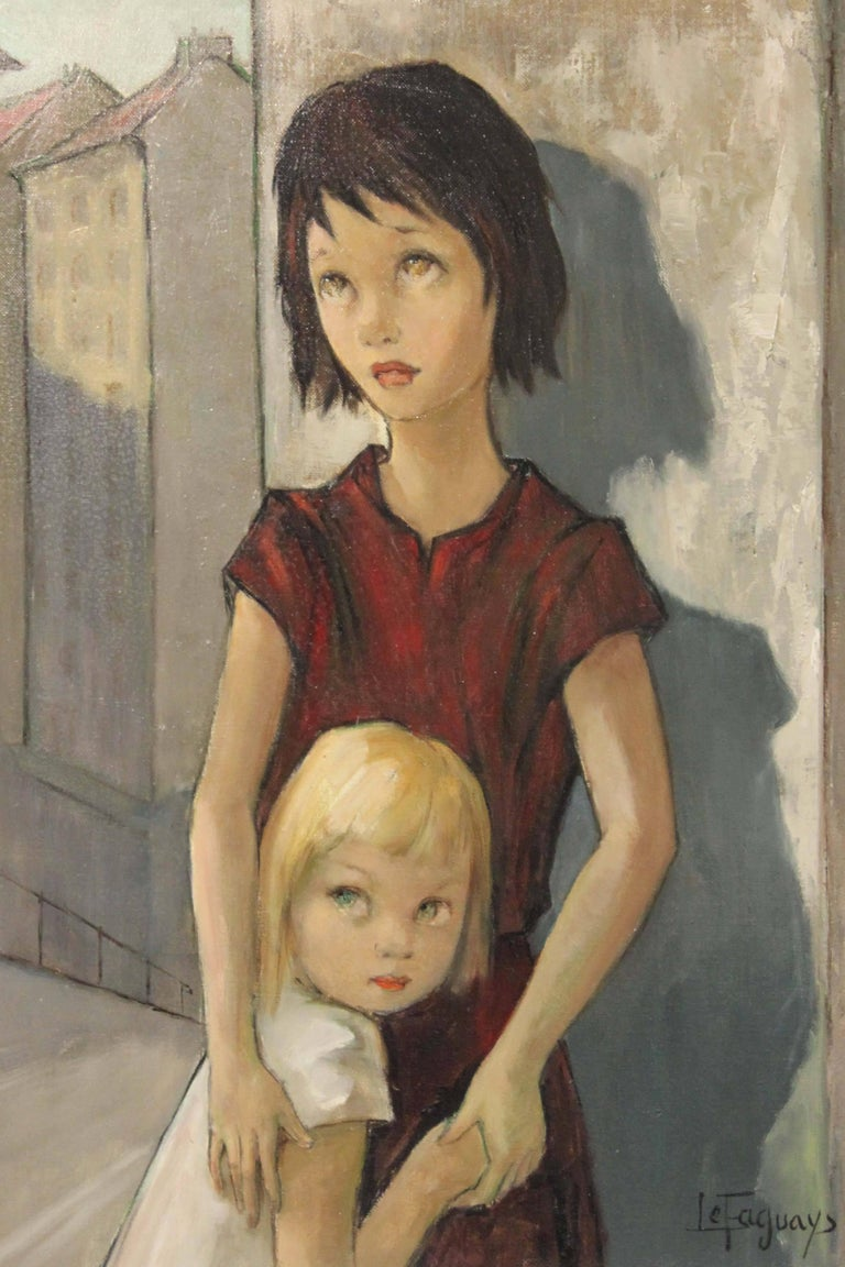 Children - Modern Painting by Pierre Le Faguays