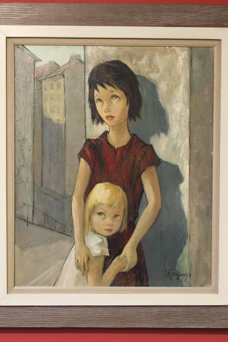 Children - Painting by Pierre Le Faguays
